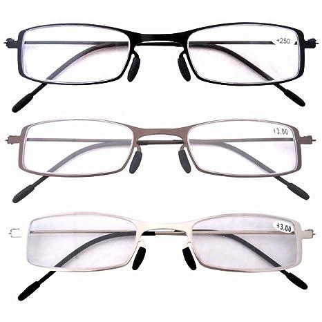 Eyekepper occhiali da lettura con attacco in metallo satinato AcLmrKQKO