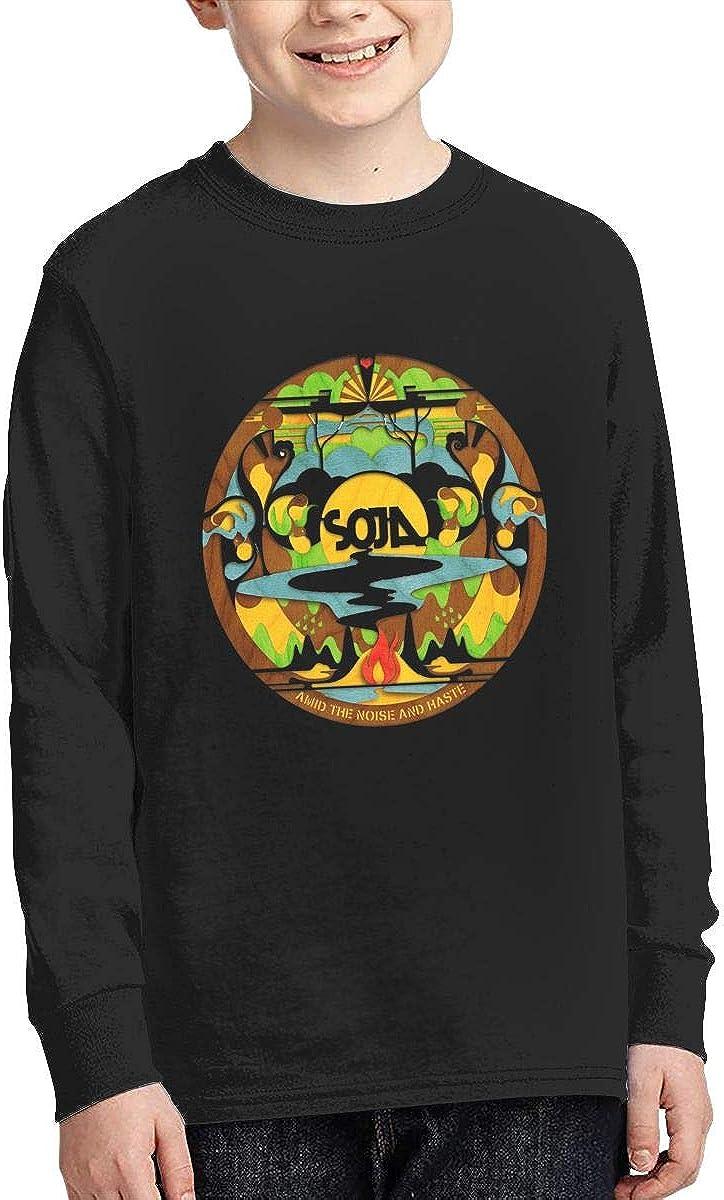 SOJA Boys Fashion Classic Long Sleeve T-Shirt Boy Long Sleeve Cotton Round Neck T-Shirt