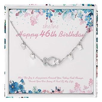 shefine 46 cumpleaños regalos para mujer - plata de ley 925 ...