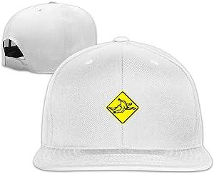 VOLTEBQ Slippery Banana Peel On The Floor Flat Bill Travel Adjustable Hats Snapback Black
