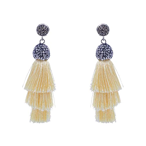 Jewelry & Watches Women Girl Fashion Rhinestone Long Tassel Dangle Earrings Fringe Drop Earrings*