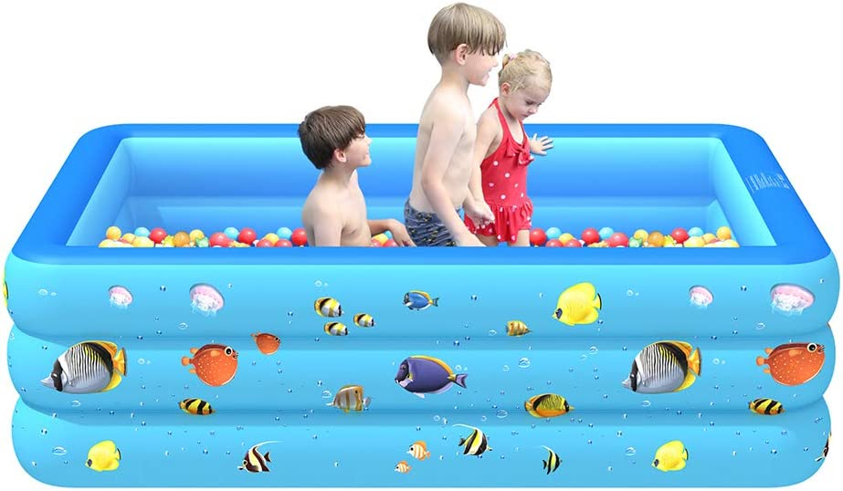 """KAVCENT Inflatable Swimming Pool 83""""x55""""x24"""" Kiddie Pools Above Ground Swimming Pool"""