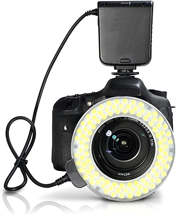 Includes Necessary Adapters//Rings for Mounting Nikon COOLPIX A Dual Macro LED Ring Light//Flash