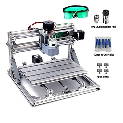 Upgrade Version Diy Cnc Router Kits Mysweety 2418 Grbl Control Cnc Wood Carving Milling Engraving Machine With Er11 And 5mm Extension Rod Working