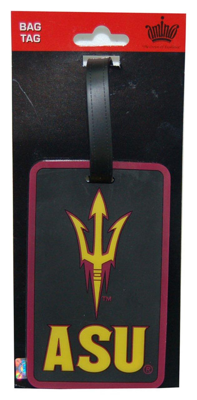 Black, aminco Arizona State Sun Devils Luggage Tag