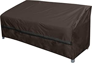 True Guard Patio Furniture Covers Waterproof Heavy Duty - Sofa or Couch Cover, 600D Rip-Stop, Fade/Stain/UV Resistant for Outdoor Patio Furniture, Dark Brown