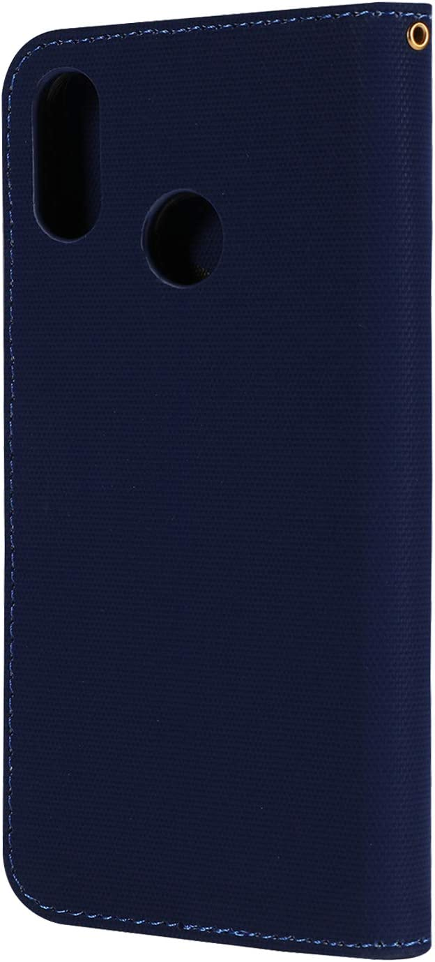 Xiaomi Redmi Note 7//Note 7Pro//Note 7S Case LOGHU040437 Black Lomogo Leather Wallet Case with Kickstand Card Holder Shockproof Flip Case Cover for Xiaomi Redmi Note 7//Note7 Pro//Note7S