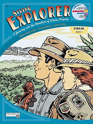 String Explorer, Bk 1: Violin, Book & Interactive CD (String Method Violin Book)