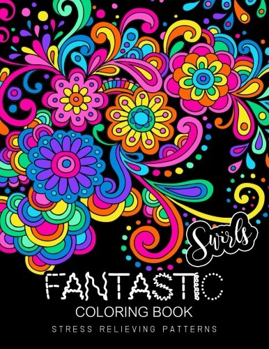 Fantastic Swirls coloring book: Coloring Book for Adult
