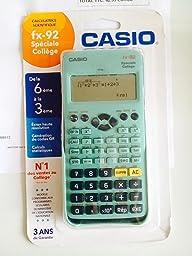 casio calculatrice fx 92 coll ge 2d fournitures de bureau. Black Bedroom Furniture Sets. Home Design Ideas