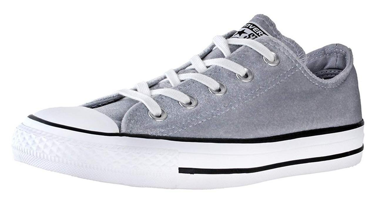 0e67e544b13d Galleon - Converse Chuck Taylor All Star - Ox Velvet Wolf Grey White White  Women s Lace Up Casual Shoes Grey White White 6 B(M) US