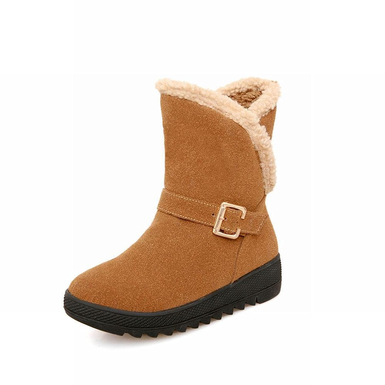 6e3ede52caa durable service Latasa Women s Fashion Suede Mid-calf Platform  Buckles-decorated Snow Boots. SOLO Eyewear ...