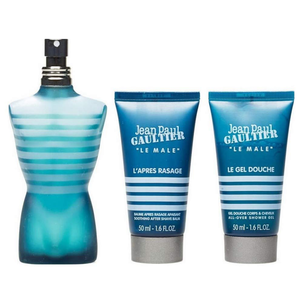 JEAN PAUL GAULTIER JPG LE MALE EDT 125 ML + SG 75 ML + AS 50 ML TRAVEL SET