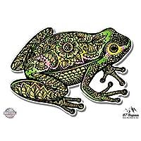 GT Graphics Frog Tangle Art Design - Vinyl Sticker Waterproof Decal