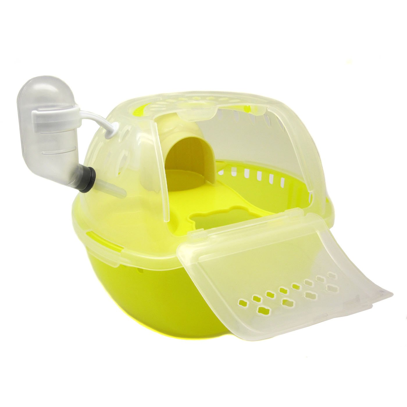Alfie Pet by Petoga Couture - Travi Travel Carrier Vacation House for Small Animals like Dwarf Hamster and Mouse - Color Yellow by Alfie (Image #1)