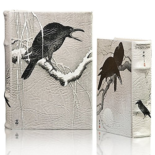 Raven Keepsake - MilmaArtGift Japanese Art Crow Raven Birds in Snow Book Box Set of 2 Decorative Book Secret Storage Jewelry Keepsake