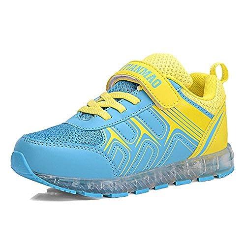 LED Zapatos Verano Ligero Transpirable Bajo 7 Colores USB Carga Luminosas Flash Deporte de Zapatillas con Luces Los Mejores Regalos para Niñas Niños ...