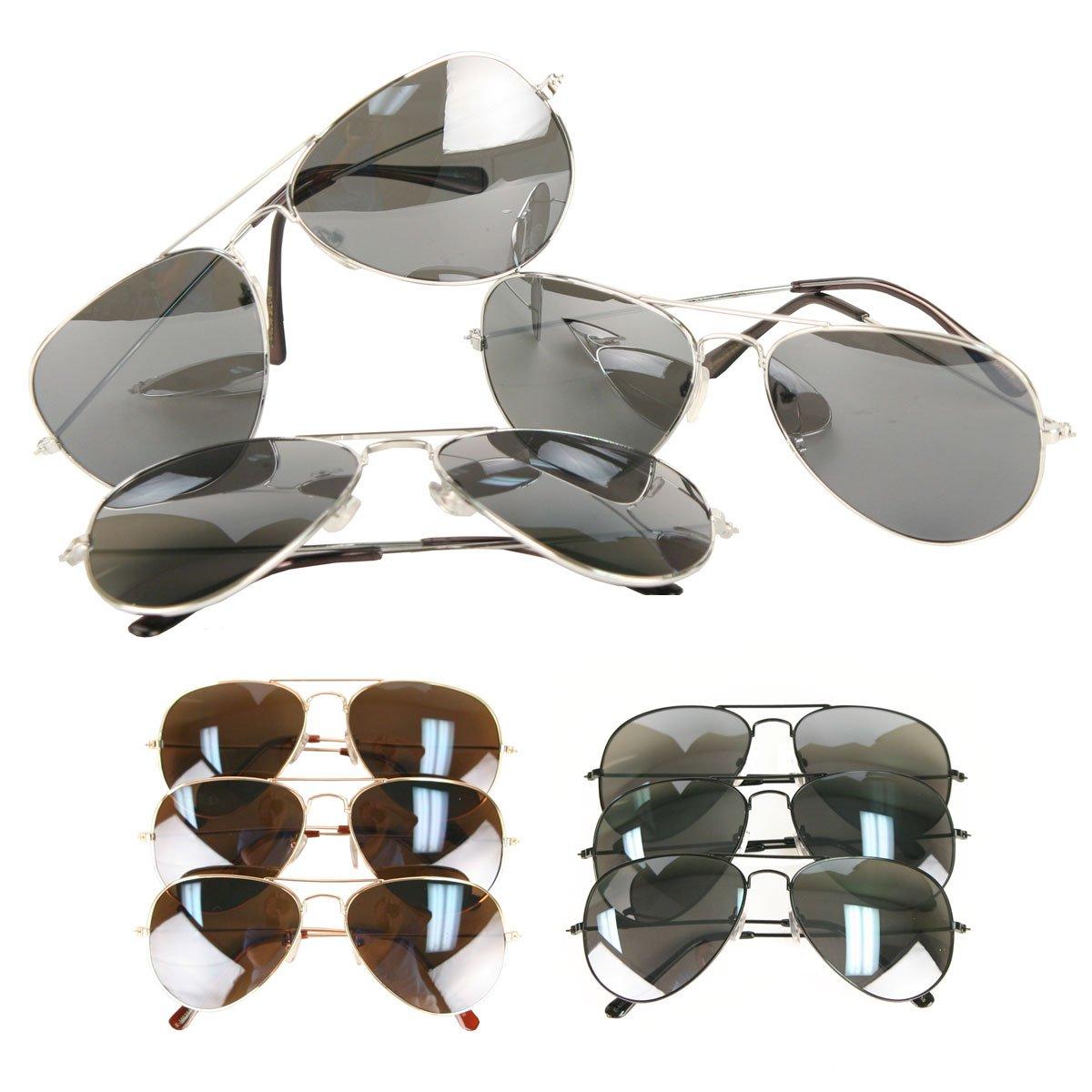 dadc5a0e94a Amazon.com  UB Classic Aviator Sunglasses 3-Packs  Reflective Lenses  Shoes
