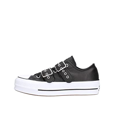 435c71f6f2eb13 Converse Girls   Chuck Taylor CTAS Lift Buckle Ox Low-Top Sneakers Black