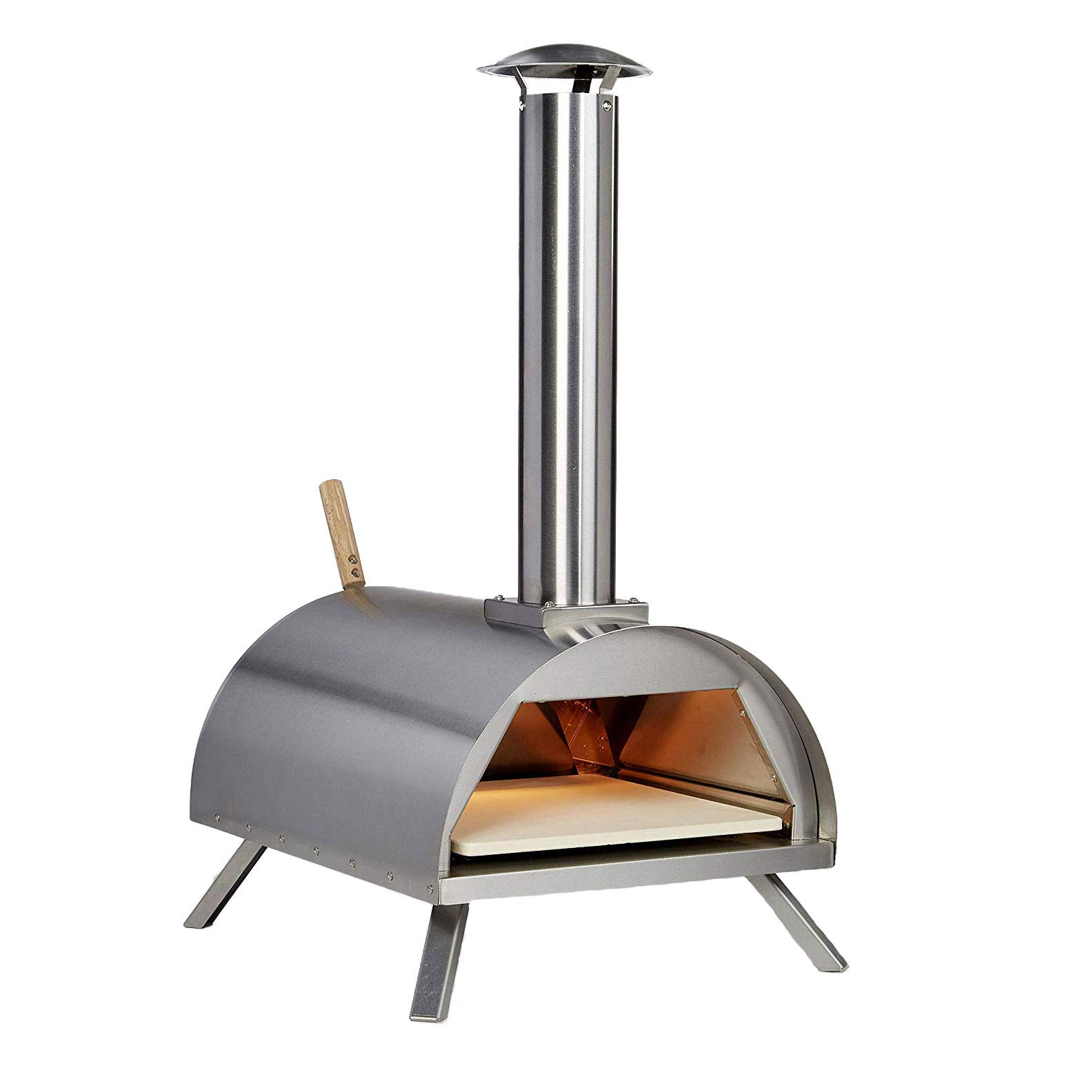 Wood Pellet Pizza Oven wppokit WPPO1 Portable, Stainless Steal by Wood Pellet Pizza Oven