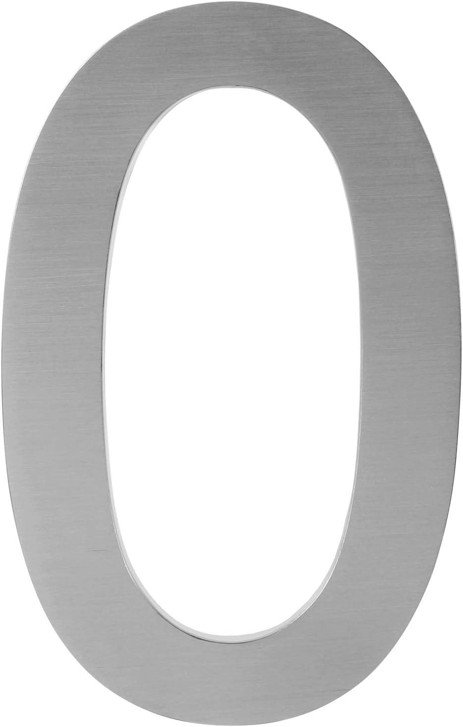 Numero civico in acciaio inox spazzolato V2A in design 3D Numero civico altezza 20 cm//profondit/à 3 cm bel design 3D antiruggine e resistente alle intemperie con materiale di montaggio