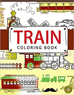 Train Coloring Book Books For Adults
