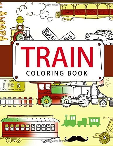 Train Coloring Book: Coloring books for adults - Coloring Pages ...