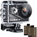 "Gnolkee 4K WiFi Action Camera, 100 Feet Waterproof Camera with 170 Ultra Wide Angle Lens, 2"" IPS Screen Underwater Camera wit"
