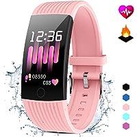 Pulsera Actividad con Monitor Ritmo Cardiaco Smartwatch Fitness Tracker Mujer Hombre Pulsera Inteligente Impermeable…