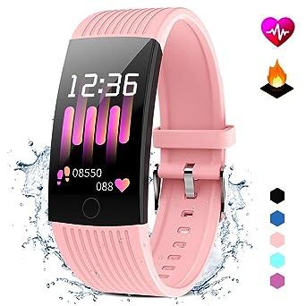 Pulsera Actividad con Monitor Ritmo Cardiaco Smartwatch Fitness ...