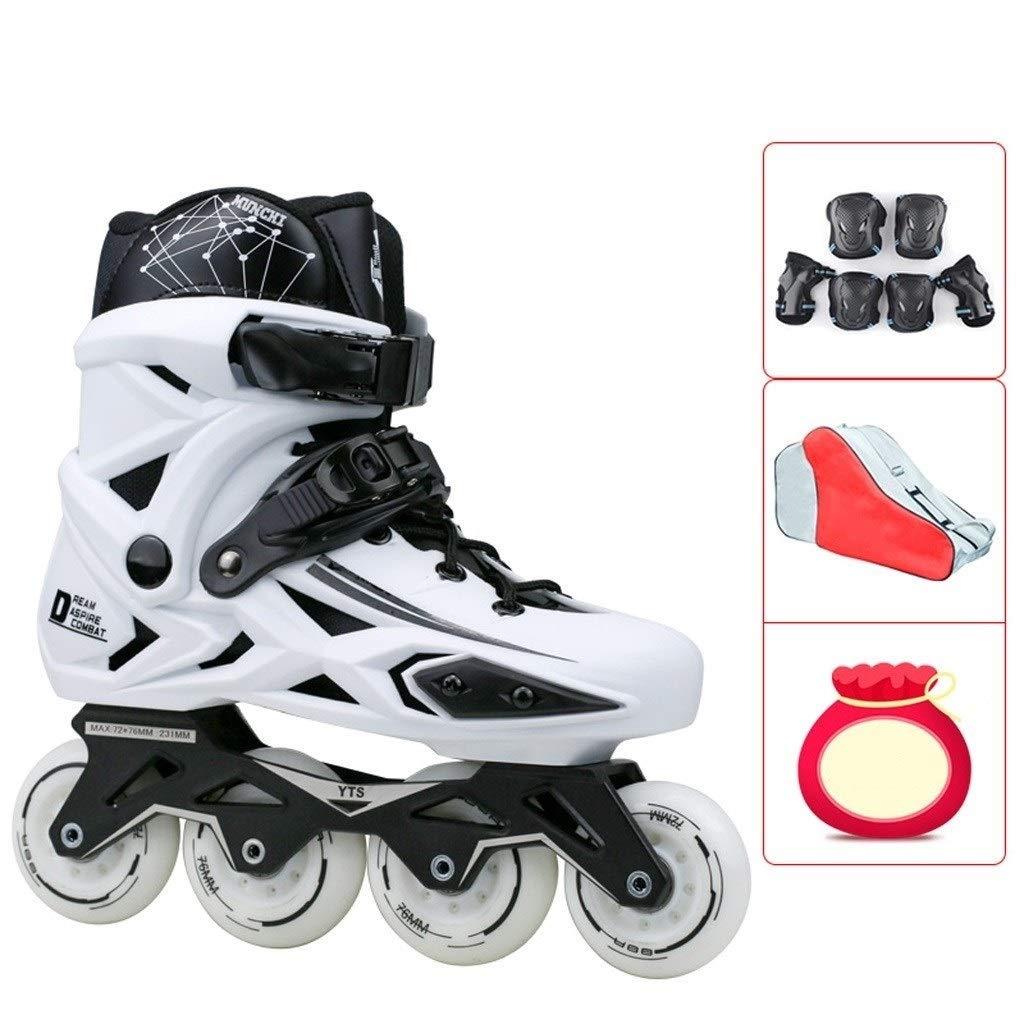 大人のローラースケート、大人の男性と女性の初心者専門のインラインスケート、調節可能な子供のフラットスケート (Color : C, Size : EU 39/US 7/UK 6/JP 24.5cm) C EU 39/US 7/UK 6/JP 24.5cm