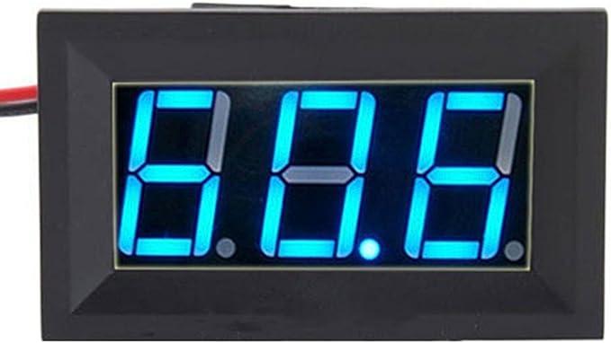 Blue DC3.0-30V Digital LED Volt Voltage Meter Display Voltmeter With 2 Wire