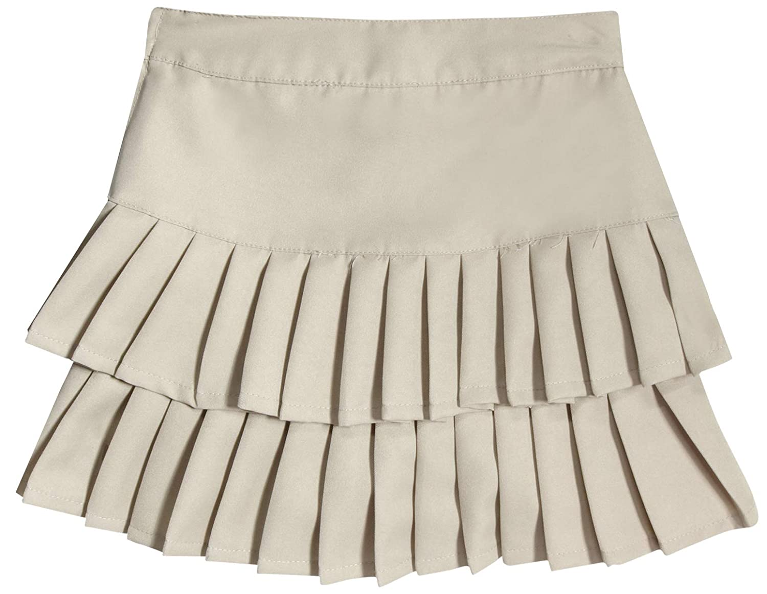 283f7d1d42 Amazon.com: Beverly Hills Polo Club Girls School Uniform Belted Low Pleat  Scooter, Khaki, Size 14': Clothing
