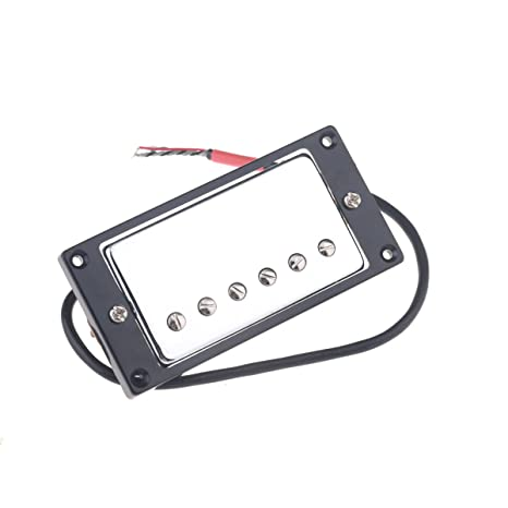 Musiclily 52MM Bridge and 50MM Neck Humbucker Bridge Double Coil Pickups  for Gibson Les Paul Guitar Replacement, Chrome