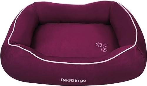 Red Dingo Pet Donut Bed, Large, Purple