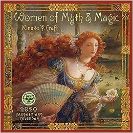 women of myth magic 2020 fantasy art wall calendar