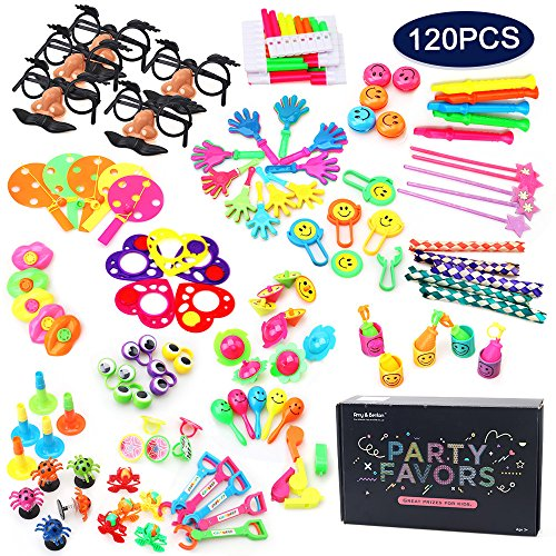 Amy&Benton 120PCS Carnival Prizes for Kids Birthday Party Favors, Pinata Filler Toy Assortment for Boys and Girls, Prize Box Toys for Teachers and (Children's Halloween Carnival Games)