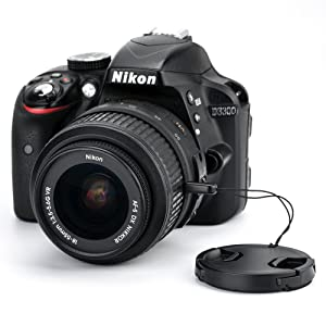 52mm Front Lens Cap Cover with Deluxe Cap Keeper for Nikon AF-S 18-55mm Kit Lens on Nikon D3200 D3100 D3000 D3300 D5000 D5100 D5200 D5300 D5500 and Ot