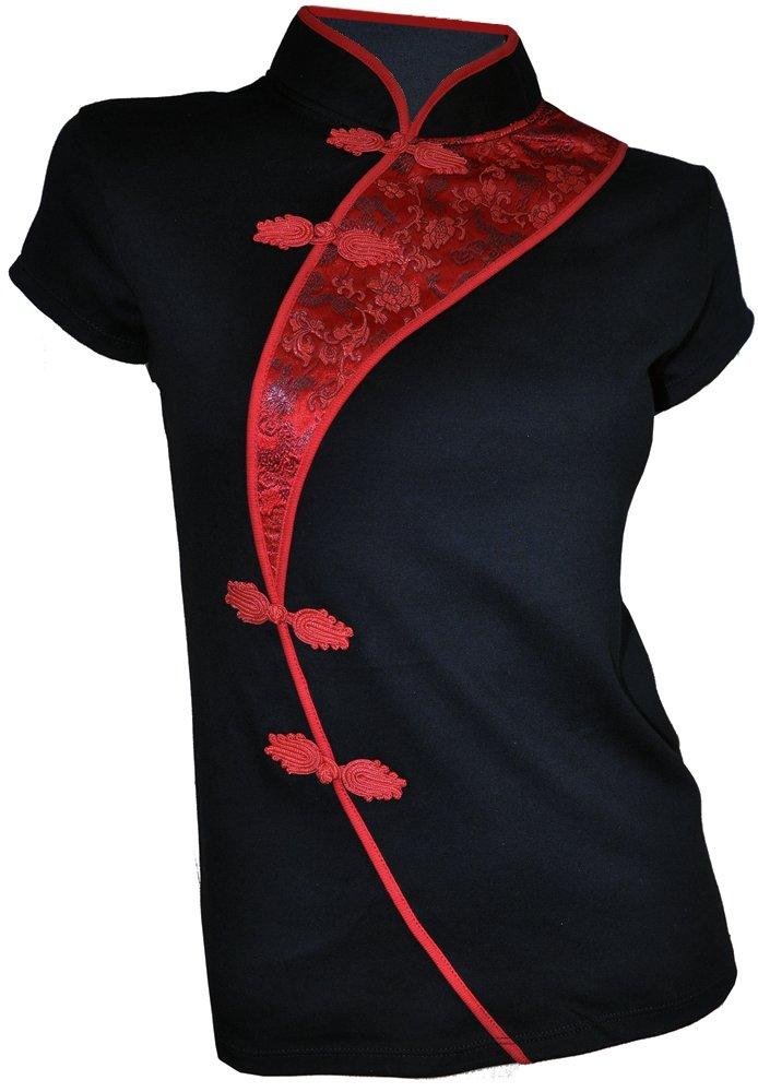 Amazing Grace Sexy Chinese Dress Top (Large, China Black)