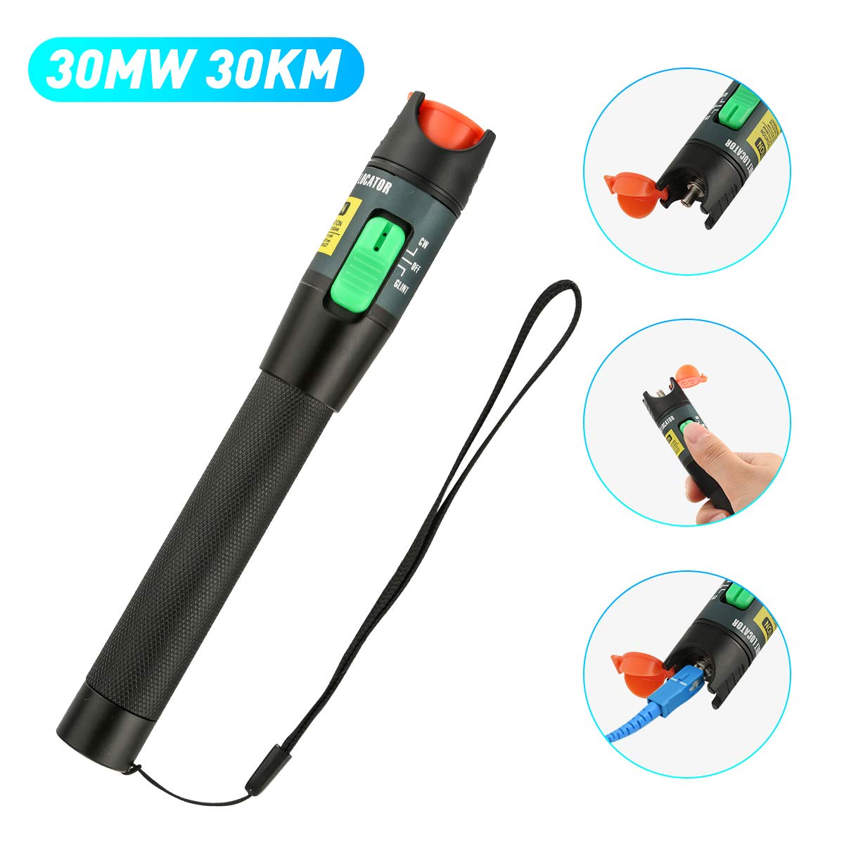 1 mW 5 KM Visual Fault Locator VfL fibre optique laser Cable Tester Test Equipment