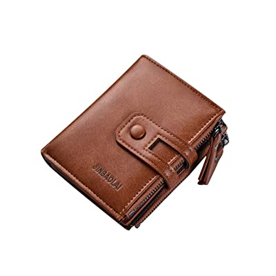 Dacawin-Women Bags JINBAOLAI Men Short Wallet Genuine Leather Casual Multi-Function Clutch Bag Card Package Multi-Card Holder: Garden & Outdoor