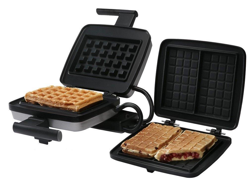 Croquade U11001 Belgian Waffle Maker Bundle, includes Belgian Waffle Plate and Stuffed Waffle Plate