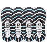 MIRMARU Men's 4 Pairs Low Cut No Show Loafer Socks
