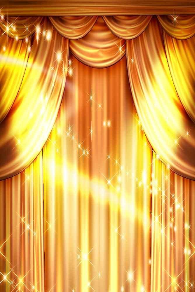 GladsBuy Golden Performance 8' x 12' Digital Printed Photography Backdrop Curtain Theme Background YHB-051