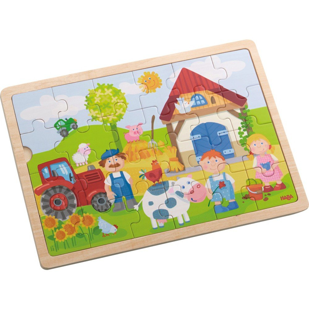 "'HABA 301942Antons Puzzle de madera Granja """