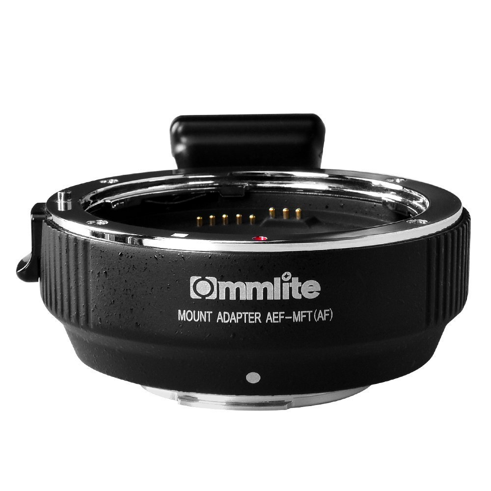 Commlite CM-AEF-MFT(B) Electronic Auto-Focus Lens Mount Adapter- Canon EF/EF-S Lens to Micro Four Thirds (MFT,M4/3) Mount Camera Body, with Built-in IS & Aperture Control Function by Commlite