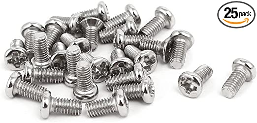 200 Pcs M3 x 4mm 304 Stainless Steel Phillips Pan Washer Head Machine Screw