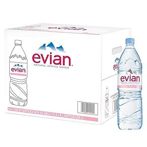 evian Natural Spring Water 1.5 Liter Plastic Bottles - Pack of 12
