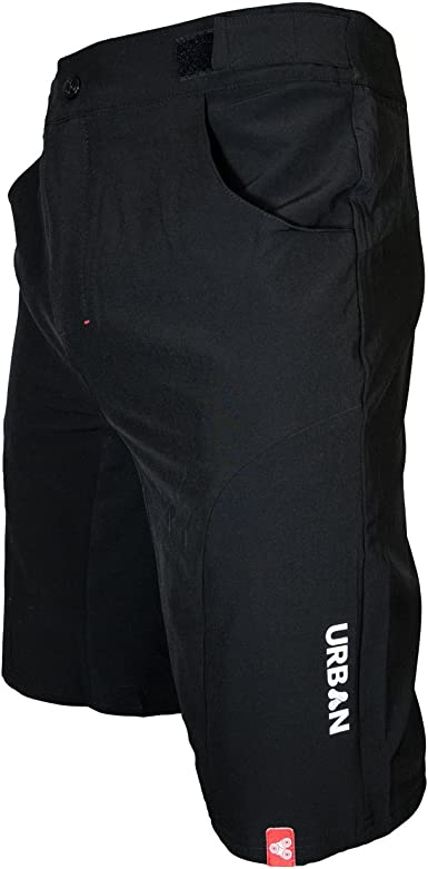 Flex Soft Shell Mountain Bike Shorts with Zip Pockets and Vents Urban Cycling Apparel Flex MTB Trail Shorts