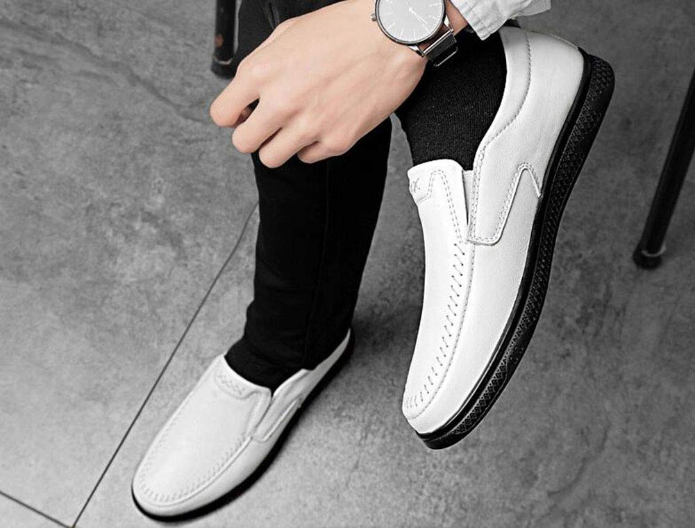 Hy Mens Casual schuhe, 2019 2019 2019 Frühjahr Neue Formal-Business-Schuhe, Hollow-Out, Mens Comfort Breathable Driving schuhe, Loafers & Slip-Ons,Weiß,45 313a11